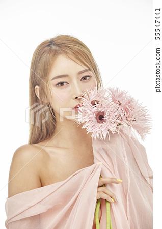 꽃,뷰티,젊은여자 55547441