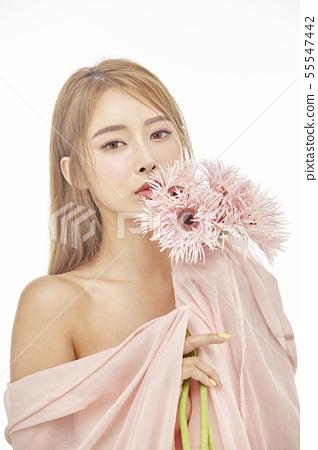 꽃,뷰티,젊은여자 55547442
