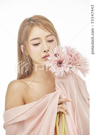 꽃,뷰티,젊은여자 55547443
