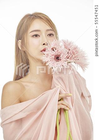 꽃,뷰티,젊은여자 55547451
