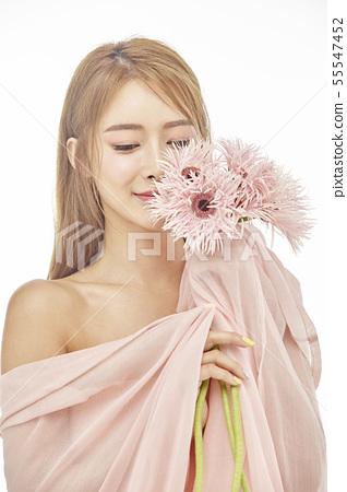 꽃,뷰티,젊은여자 55547452