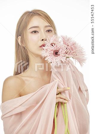 꽃,뷰티,젊은여자 55547453