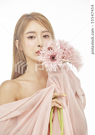 꽃,뷰티,젊은여자 55547454