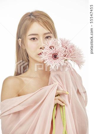 꽃,뷰티,젊은여자 55547455