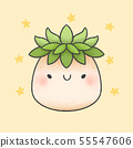 Plant cartoon hand drawn style 55547606