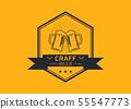 Craft beer logo vector illustration 55547773