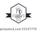 Craft beer logo vector illustration 55547776
