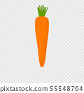 Carrot icon with shadow 55548764