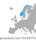 The map of Norway is highlighted in blue on the 55548770