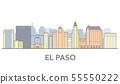 El paso cityscape, Texas - city panorama of El 55550222