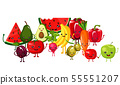 set of juicy vegetables and fruits 55551207