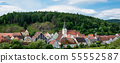 The town of Hohenburg, Upper Palatinate in Bavaria, Germany 55552587