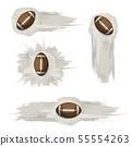 Brown grunge american football symbols 55554263