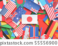 World flags background material 55556900