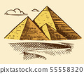 Great Pyramid of Giza. Seven Wonders of the Ancient World. The great construction of the Greeks 55558320