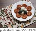 한국의 전통음식 송편과 약과 55561978