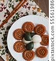 한국의 전통음식 송편과 약과 55561986