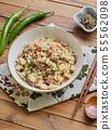 아시아 음식 야채 볶음밥  55562098