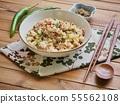 아시아 음식 야채 볶음밥  55562108