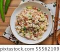 아시아 음식 야채 볶음밥  55562109