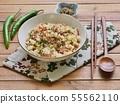 아시아 음식 야채 볶음밥  55562110