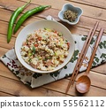 아시아 음식 야채 볶음밥  55562112