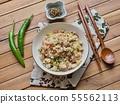 아시아 음식 야채 볶음밥  55562113
