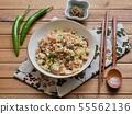 아시아 음식 야채 볶음밥  55562136