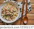 아시아 음식 야채 볶음밥  55562137