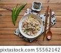 아시아 음식 야채 볶음밥  55562142