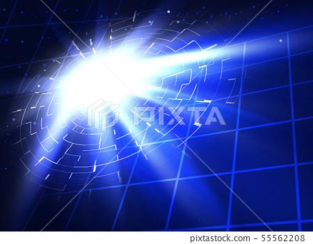 未來的虛擬空間,未來的商業背景,閃光燈 55562208
