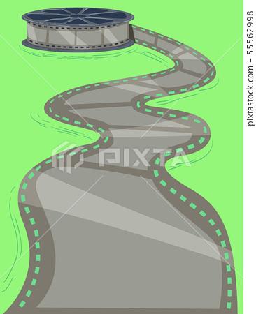 Film Reel Path Illustration 55562998