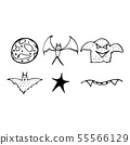 Halloween doodle set isolated on white background. 55566129