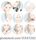 做护发的妇女的例证 55567262