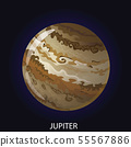 Planet Jupiter cartoon vector illustration 55567886