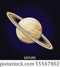 Planet Saturn cartoon vector illustration 55567902