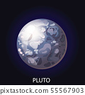 Planet Pluto cartoon vector illustration 55567903