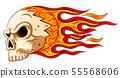 Flames skull horror evil burn hot 55568606
