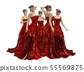 Beautiful woman in red dress 55569875