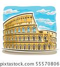 Vector illustration of Coliseum 55570806