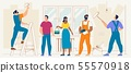 Home Repair and Renovation Flat Vector Concept 55570918