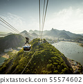 Cable car going to Sugarloaf mountain in Rio 55574602
