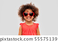african ameican girl in heart shaped sunglasses 55575139