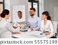 recruiters having job interview with employee 55575199