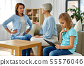 daughter, mother and grandmother arguing at home 55576046