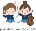 演奏仪器的女孩 55578126