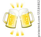 杯子桶装啤酒多士例证 55584802