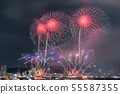 Minato Kobe beach firework display 55587355