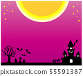Halloween frame frame moon full moon Hoshi castle grave 55591387