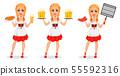 Oktoberfest. Young girl wearing Bavarian costume 55592316